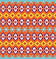 folk geometric seamless pattern colorful pixelated vector image vector image