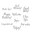 Good luck enjoy happy birthday Set of modern vector image