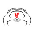 hands make heart symbol vector image