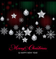 hanging stars flakes happy christmas vector image vector image