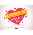 Happy Valentines Day Flyer Template for creating vector image vector image