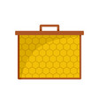 hexagonal honey icon flat style vector image