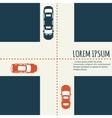 Highway traffic Minimalistic banner vector image vector image