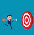hold big arrow and go to accuracy reach aim vector image vector image