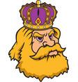 king head logo mascot vector image vector image