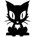 kitten stencil vector image vector image