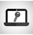 laptop password secure key icon vector image vector image