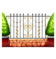 Metal fence with classic design vector image