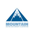 mountains - logo template concept vector image