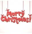 ornate merry christmas sign vector image