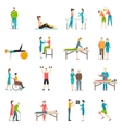 Physiotherapy Rehabilitation Color Icons vector image vector image