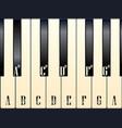 piano keys note names vector image vector image