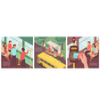 public transportation tips set vector image vector image