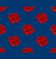 red amaryllis on indigo blue background vector image vector image