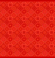 red geometric diagonal square pattern - tile vector image vector image