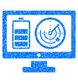 remote battery monitoring grunge icon vector image