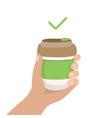 reusable coffee cup - zero waste concept vector image vector image