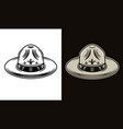 scout hat two styles black on white and colorful vector image vector image