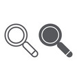 search line and glyph icon lens and find vector image