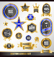 set of gold labels vector image