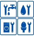 set of plumbing signs vector image