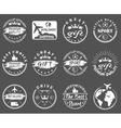 set of vintage sports gift emblems vector image