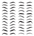 set women eyebrows for beauty concept vector image vector image