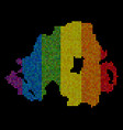 spectrum dotted northern ireland map vector image
