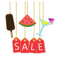 summer sale - background with icons vector image vector image