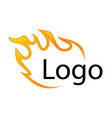 template element for logo flame fire design vector image vector image