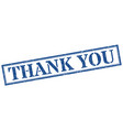 thank you stamp thank you square grunge sign vector image vector image