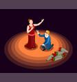 theatre isometric icon vector image vector image