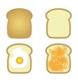 tosts set vector image