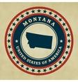 Vintage label Montana vector image vector image