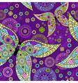 violet floral pattern vector image vector image
