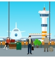Waiting Room in Airport with People vector image