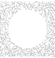 White circle lies on seamless pattern of random vector image