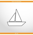 yacht web flat icon vector image