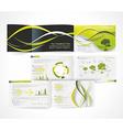 Blank catalog horizontal format corporate brochure vector image