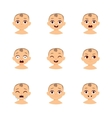 Baby emoticons and kid emoji set vector image