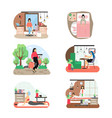 8 march womens day set flat isolated vector image