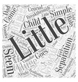 A Little Separation is a Good Thing Word Cloud vector image vector image