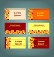 a set of cards with the inscriptions vector image vector image