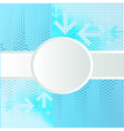 background with circle for text vector image vector image