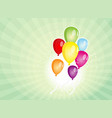balloons party for carnival and holidays vector image