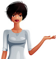 Beautiful coquette lady upper body portrait of a vector image vector image