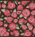 beautiful romantic seamless pattern with blooming vector image vector image