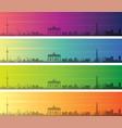 berlin multiple color gradient skyline banner vector image