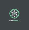 bike service logotype logo icon symbol vector image