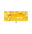 billboard with poster happy easter holidays vector image vector image